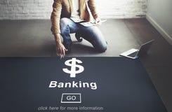 Concetto di Money Banking Planing dell'uomo d'affari Fotografie Stock Libere da Diritti