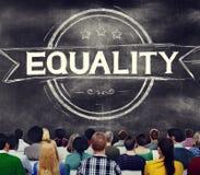 Concetto di morale dell'uguale di distinzione dell'equilibrio di uguaglianza immagini stock libere da diritti
