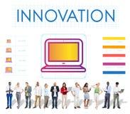 Concetto di multimedia dell'innovazione dei dispositivi di Digital Fotografie Stock Libere da Diritti