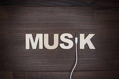 Concetto di musica di parola Fotografia Stock Libera da Diritti