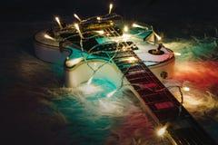 Concetto di musica di Natale Immagine Stock Libera da Diritti