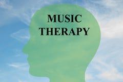 Concetto di musicoterapia Fotografia Stock Libera da Diritti