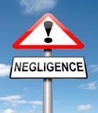 Concetto di negligenza. Fotografia Stock