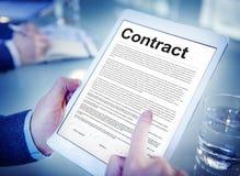Concetto di negoziato di obbligo di impegno di accordo di contratto fotografie stock