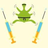 Concetto di ninja di resistenza degli antibiotici illustrazione vettoriale