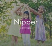 Concetto di Nipper Youngster Children Kids Youth Immagini Stock Libere da Diritti