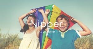Concetto di Nipper Youngster Children Kids Youth Fotografia Stock