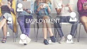 Concetto di noleggio di occupazione di lavoro di carriera di assunzione fotografie stock libere da diritti