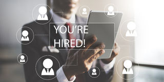 Concetto di noleggio di occupazione di lavoro di carriera di assunzione Immagini Stock