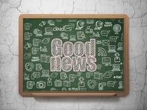 Concetto di notizie: Buone notizie sul fondo del consiglio scolastico Fotografia Stock