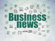 Concetto di notizie: Notizie dal mondo degli affari sul fondo della carta di dati di Digital Immagine Stock