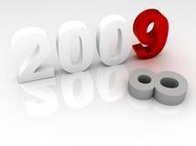 concetto di nuovo anno 3d Fotografia Stock Libera da Diritti