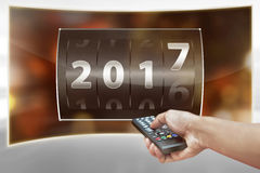 Concetto di nuovo anno felice Immagini Stock