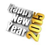 Concetto di nuovo anno felice Parole del metallo Immagine Stock Libera da Diritti
