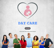 Concetto di Nursery Love Motherhood della babysitter della babysitter di babysitter immagini stock