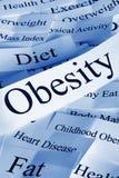 Concetto di obesità Fotografia Stock