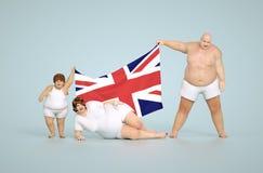 Concetto di obesità del Regno Unito Immagini Stock Libere da Diritti