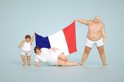 Concetto di obesità della Francia Fotografie Stock
