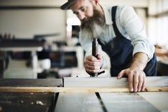 Concetto di Occupation Craftsmanship Carpentry del tuttofare fotografie stock libere da diritti