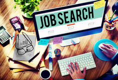 Concetto di occupazione di Job Search Career Hiring Opportunity Fotografia Stock