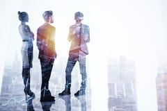 Concetto di occupazione, di lavoro di squadra e di finanza immagini stock
