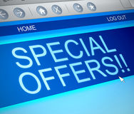 Concetto di offerte speciali Immagine Stock