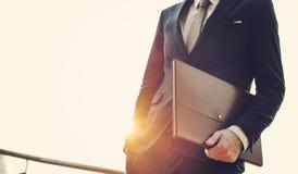Concetto di Office Worker Working dell'uomo d'affari immagini stock