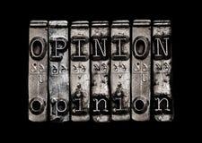 Concetto di opinione Immagini Stock Libere da Diritti