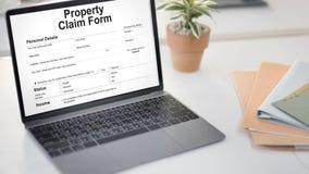 Concetto di ordine d'acquisto del cedolino paga della forma di reclamo della proprietà Fotografia Stock Libera da Diritti