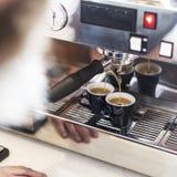 Concetto di ordine di Prepare Coffee Working di barista fotografie stock