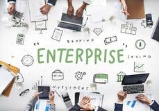 Concetto di organizzazione di società di affari di Enterprise Company fotografie stock