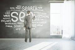 Concetto di ottimizzazione di Search Engine Fotografia Stock