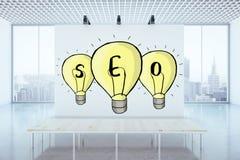 Concetto di ottimizzazione di Search Engine Fotografie Stock