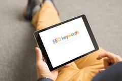 Concetto di ottimizzazione SEO di Search Engine fotografie stock libere da diritti