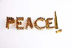 Concetto di pace e di guerra Fotografia Stock Libera da Diritti