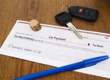 Concetto di pagamento di automobile immagine stock