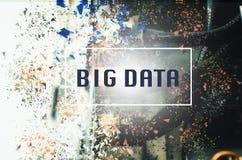 Concetto di parola di BIG DATA sopra fondo astratto fotografia stock libera da diritti
