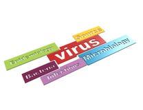 Concetto di parola del virus 3d Fotografie Stock Libere da Diritti