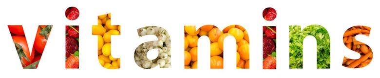 Concetto di parola delle vitamine royalty illustrazione gratis