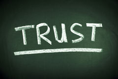 Concetto di parola di fiducia immagine stock libera da diritti