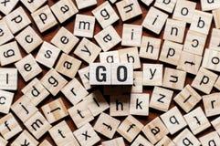 Concetto di parola di linguaggio di programmazione Go immagini stock