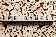 Concetto di parola di occupazione immagine stock