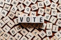 Concetto di parola di voto fotografia stock libera da diritti