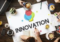 Concetto di pensiero creativo dell'innovazione di processo di progettazione Fotografia Stock Libera da Diritti