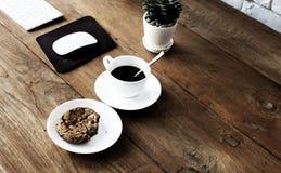 Concetto di pensiero creativo di idee del caffè di schizzo di stile del caffè Immagine Stock Libera da Diritti