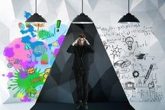 Concetto di pensiero creativo ed analitico Fotografie Stock Libere da Diritti