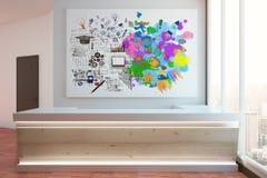Concetto di pensiero creativo ed analitico Fotografia Stock