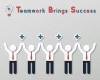 Concetto di pensiero positivo di affari di lavoro di squadra Immagini Stock Libere da Diritti