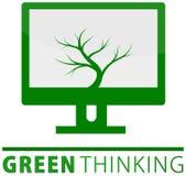 Concetto di pensiero verde illustrazione vettoriale