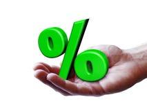 Concetto di percentuale di simbolo di affari Fotografia Stock